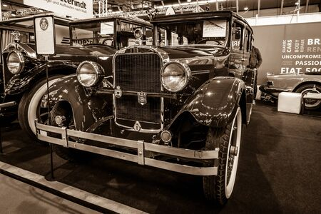 STUTTGART, GERMANY - MARCH 02, 2017: Vintage car Dodge Brothers Standard Six, 1928. Sepia. Europes greatest classic car exhibition RETRO CLASSICS