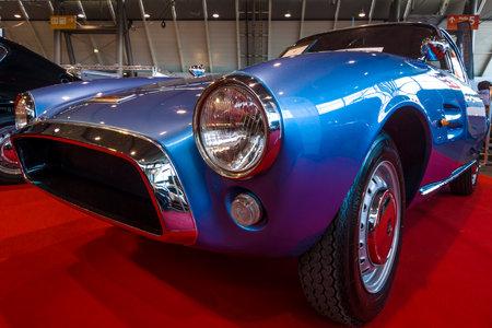 STUTTGART, GERMANY - MARCH 02, 2017: Sports car Fiat 1500 GT Ghia, 1964. Europes greatest classic car exhibition RETRO CLASSICS