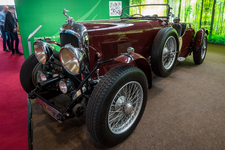 litre: STUTTGART, GERMANY - MARCH 03, 2017: Retro car Lagonda 3-Litre LC Tourer, 1934. Europes greatest classic car exhibition RETRO CLASSICS