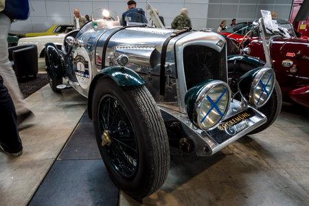 シュトゥットガルト, ドイツ - 2017 年 3 月 3 日: 中堅スポーツサルーン ライリー 124 特別、1934。ヨーロッパの最大の古典的な車の展示会「レトロ ク