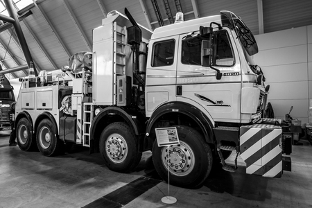 STUTTGART, GERMANY - MARCH 03, 2017: Heavy Duty Truck Mercedes-Benz ...