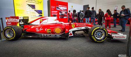 STUTTGART, GERMANY - MARCH 03, 2017: Formula One racing car Ferrari SF15-T, 2015. Europes greatest classic car exhibition RETRO CLASSICS