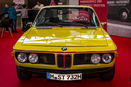 STUTTGART, GERMANY - MARCH 04, 2017: Grand tourer coupe BMW 3.0 CSL. Europes greatest classic car exhibition RETRO CLASSICS Editorial