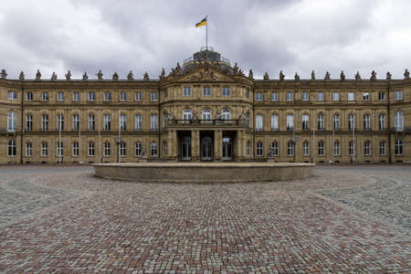 Das Neues Schloss (New Castle). Palace of the 18th century in baroque style. Stuttgart. Germany Editorial