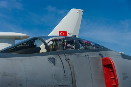 BERLIN, GERMANY - MAY 21, 2014: Cockpit Aircraft McDonnell Douglas F-4 Terminator 2020 Phantom II, Turkish Air Force. Exhibition ILA Berlin Air Show 2014 Editorial