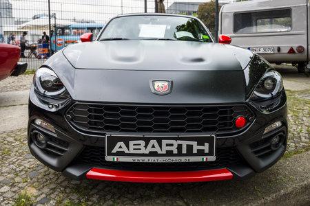 BERLIN - MAY 13, 2017: Sports car Abarth 124 Spider Turbo, 2016. Exhibition Oldtimertage Berlin-Brandenburg.