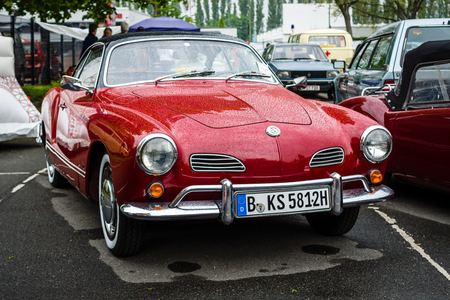 BERLIN - MAY 13, 2017: Sports car Volkswagen Karmann Ghia, Typ 14. Exhibition Oldtimertage Berlin-Brandenburg. Editorial