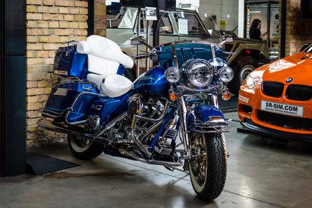 BERLIN - MAY 13, 2017: Motorcycle Harley-Davidson Road King. Exhibition Oldtimertage Berlin-Brandenburg. Editorial