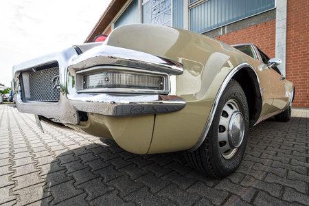 PAAREN IM GLIEN, GERMANY - JUNE 03, 2017: Full-size personal luxury car Oldsmobile Toronado, 1968. Exhibition Die Oldtimer Show.