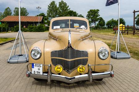 dodge: PAAREN IM GLIEN, GERMANY - JUNE 03, 2017: Vintage car Dodge Business Coupe, 1940. Exhibition Die Oldtimer Show.