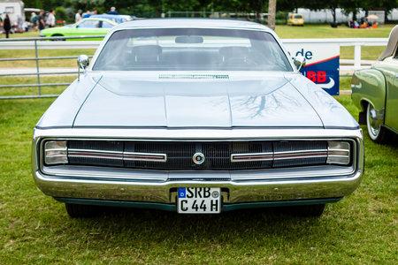 PAAREN IM GLIEN, GERMANY - JUNE 03, 2017: Full-size car Chrysler 300 Hurst (Non-Letter Series), 1970. Exhibition Die Oldtimer Show.