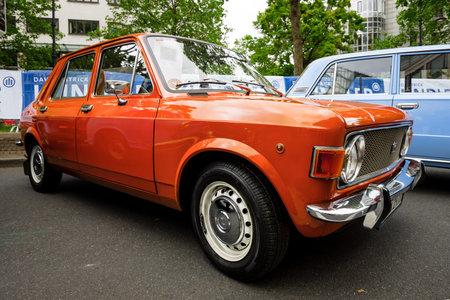 BERLIN - JUNE 17, 2017: Small family car Zastava 1100 Skala, 1978. Classic Days Berlin 2017.