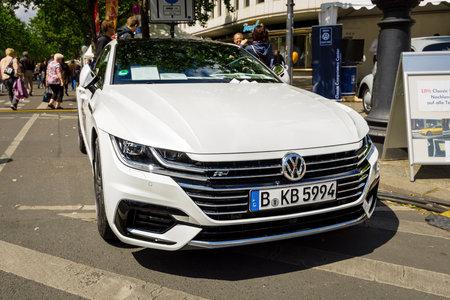 BERLIN - JUNE 17, 2017: Executive car Volkswagen Arteon, 2017. Classic Days Berlin 2017.