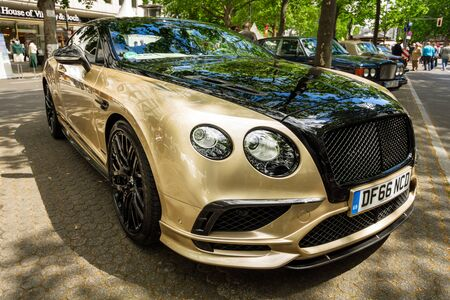 BERLIN - JUNE 17, 2017: Personal luxury car Bentley Continental Supersports, 2017. Classic Days Berlin 2017.