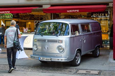 BERLIN - JUNE 17, 2017: Light commercial vehicle Volkswagen Transporter Type 2 (T2). Classic Days Berlin 2017. Stock Photo - 81680252