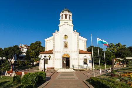 POMORIE, BULGARIA - AUGUST 17, 2017: Nativity of Theotokos Church. Old town of Pomorie. Editorial