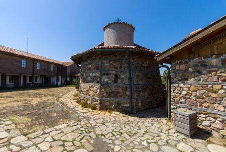 monastic: Monastic Orthodox Church on the island of St. Anastasia. Burgas Bay. Black Sea. Bulgaria. Stock Photo