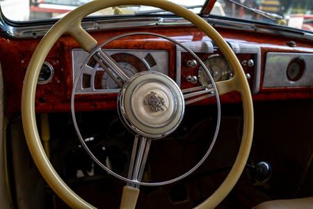 BERLIN - MAY 06, 2018: Interior of a full-size car Buick Special Series 40. Exhibition 31. Oldtimertage Berlin-Brandenburg (31th Berlin-Brandenburg Oldtimer Day).