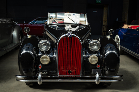 BERLIN - MAY 06, 2018: Executive car Talbot Lago-Record Type T26, 1948. Exhibition 31. Oldtimertage Berlin-Brandenburg (31th Berlin-Brandenburg Oldtimer Day).