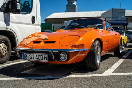 BERLIN - MAY 06, 2018: Sports car Opel GT. Oldtimertage Berlin-Brandenburg (31th Berlin-Brandenburg Oldtimer Day).
