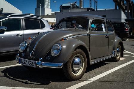 BERLIN - MAY 06, 2018: Economy car Volkswagen Beetle. Exhibition 31. Oldtimertage Berlin-Brandenburg (31th Berlin-Brandenburg Oldtimer Day).