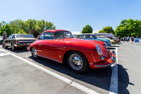 BERLIN - MAY 06, 2018: Sports car Porsche 356B Coupe. Oldtimertage Berlin-Brandenburg (31th Berlin-Brandenburg Oldtimer Day).