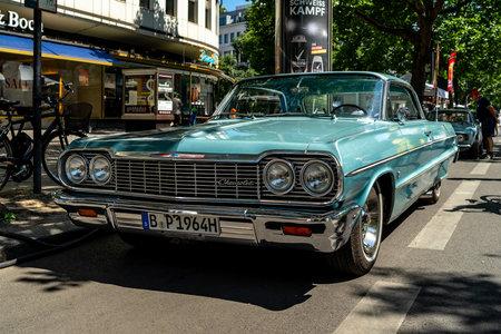 BERLIN - JUNE 09, 2018: Full-size car Chevrolet Impala Hardtop (Third generation). Classic Days Berlin 2018.