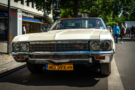 BERLIN - JUNE 09, 2018: Full-size car Chevrolet Impala (Fourth generation). Classic Days Berlin 2018.