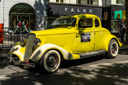 BERLIN - JUNE 09, 2018: Full-size car Ford Model 40B Coupe, 1934. Classic Days Berlin 2018.