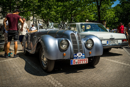 BERLIN - JUNE 09, 2018: Sports car BMW 319 Roadster, 1937. Classic Days Berlin 2018.