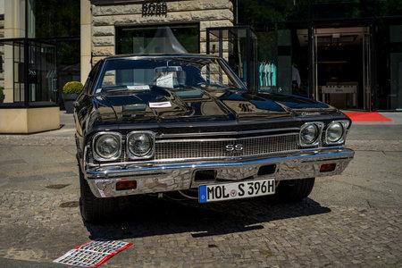 BERLIN - JUNE 09, 2018: Mid-size car Chevrolet Chevelle, 1968. Classic Days Berlin 2018.