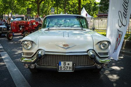 BERLIN - JUNE 09, 2018: Full-size car Chevrolet Bel Air, 1957. Classic Days Berlin 2018. 報道画像