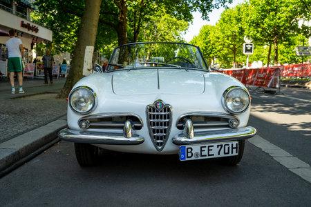 BERLIN - JUNE 09, 2018: Family car Alfa Romeo Giulietta Spider, 1960. Classic Days Berlin 2018.
