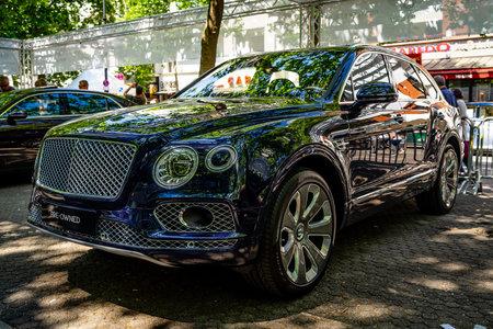 BERLIN - JUNE 09, 2018: Mid-size luxury crossover SUV Bentley Bentayga. Classic Days Berlin 2018.