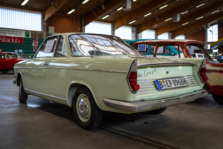 PAAREN IM GLIEN, GERMANY - MAY 19, 2018: Small rear-engined car BMW 700 LS Coupe, 1962. Rear view. Die Oldtimer Show 2018. Stock fotó - 110052302