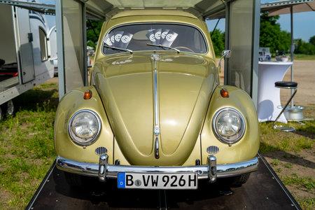 PAAREN IM GLIEN, GERMANY - MAY 19, 2018: Economy car Volkswagen Beetle. Die Oldtimer Show 2018.