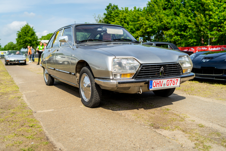 PAAREN IM GLIEN, GERMANY - MAY 19, 2018: Small family car Citroen GS Pallas, 1977. Die Oldtimer Show 2018.