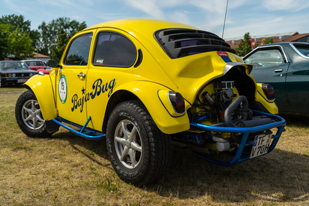 PAAREN IM GLIEN, GERMANY - MAY 19, 2018: A Baja Bug is an original Volkswagen Beetle modified to operate off-road. Die Oldtimer Show 2018. Editorial