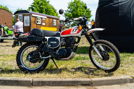 PAAREN IM GLIEN, GERMANY - MAY 19, 2018: Motorcycle Yamaha XT 500. Die Oldtimer Show 2018. Editorial
