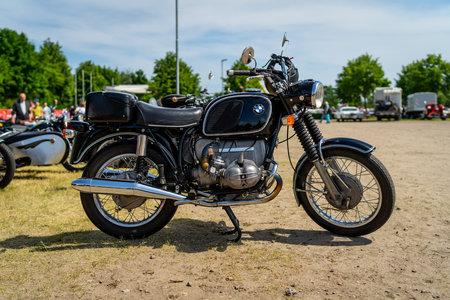PAAREN IM GLIEN, GERMANY - MAY 19, 2018: Motorcycle BMW R755, 1970. Die Oldtimer Show 2018. Editöryel
