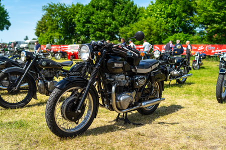 PAAREN IM GLIEN, GERMANY - MAY 19, 2018: A Classic British Motorcycle Ambassador. Die Oldtimer Show 2018. Editorial