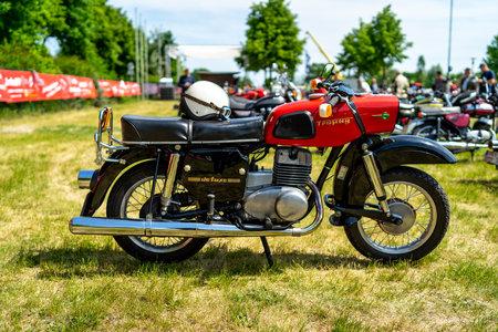 PAAREN IM GLIEN, GERMANY - MAY 19, 2018: Motorcycle MZ ES 250/2 Trophy de luxe. Die Oldtimer Show 2018.