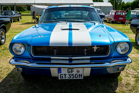 PAAREN IM GLIEN, GERMANY - MAY 19, 2018: Pony car Shelby Cobra GT350, (high-performance version of the Ford Mustang). Die Oldtimer Show 2018. Editorial