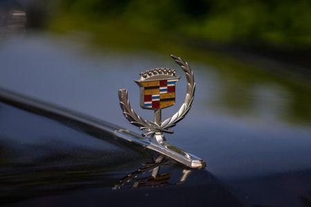 PAAREN IM GLIEN, GERMANY - MAY 19, 2018: Broken hood ornament of a full-size luxury car Cadillac Eldorado. Die Oldtimer Show 2018. Editorial