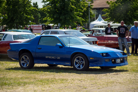 PAAREN IM GLIEN, GERMANY - MAY 19, 2018: Muscle car Chevrolet Camaro IROC-Z Z28, 1985. Die Oldtimer Show 2018.