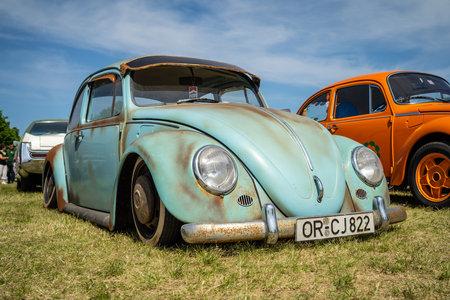 PAAREN IM GLIEN, GERMANY - MAY 19, 2018: Iconic car Volkswagen Beetle Custom. Die Oldtimer Show 2018.