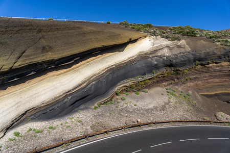 La Tarta del Teide - geological formation of solidified lava flows. Tenerife. Canary Islands. Spain.