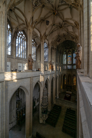 KUTNA HORA, CZECH REPUBLIC - OCTOBER 26, 2018: Interior of St. Barbaras Church.
