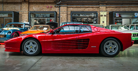 BERLIN - MAY 11, 2019: Sports car Ferrari Testarossa, 1991. 32th Berlin-Brandenburg Oldtimer Day.