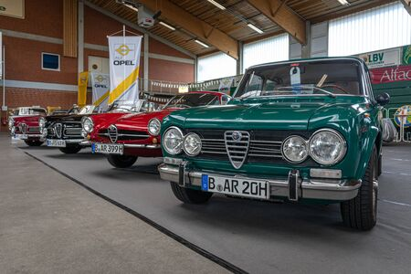 PAAREN IM GLIEN, GERMANY - JUNE 08, 2019: Large family car Alfa Romeo Giulia. Die Oldtimer Show 2019. Editorial